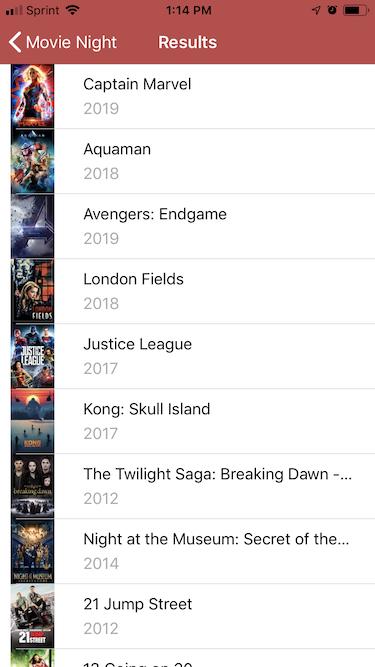 Movie Night – Movies